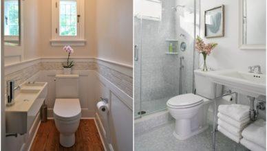 Cách bố trí nhà vệ sinh nhỏ hẹp