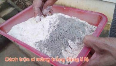Cách trộn xi măng trắng