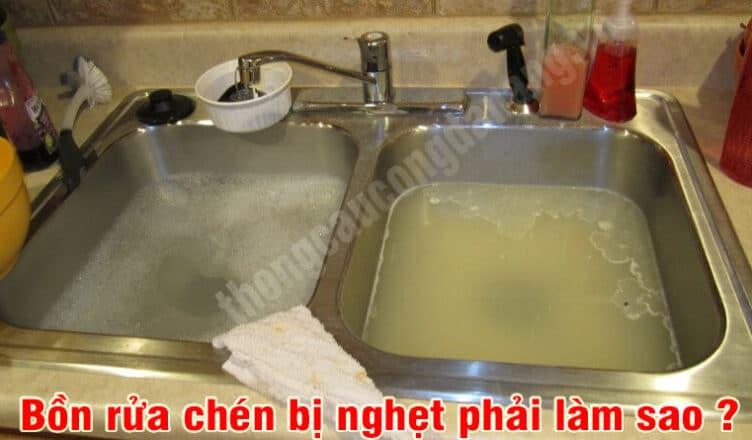 Cách thông tắc bồn rửa chén